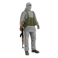 3d rigged taliban model