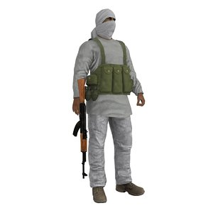 3d rigged taliban model