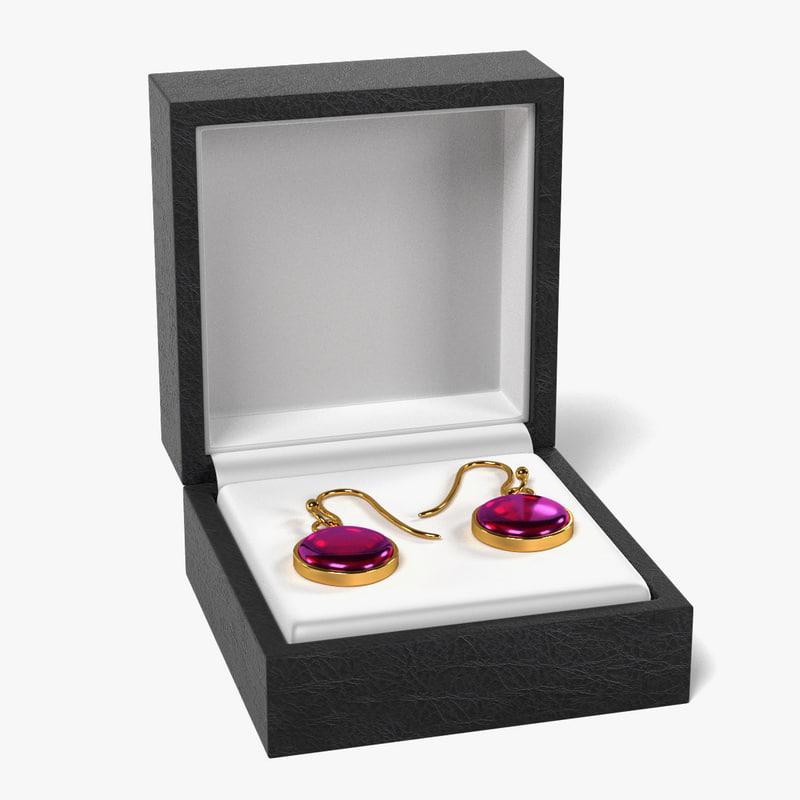 3d earrings box model