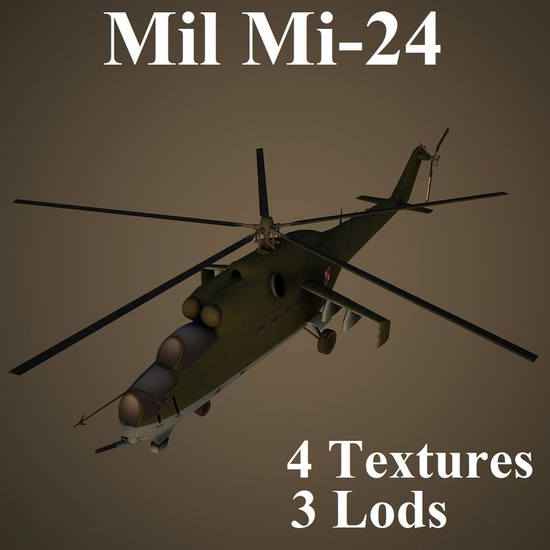 mil helicopter 3d max