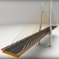 suspended bridge 3d 3ds