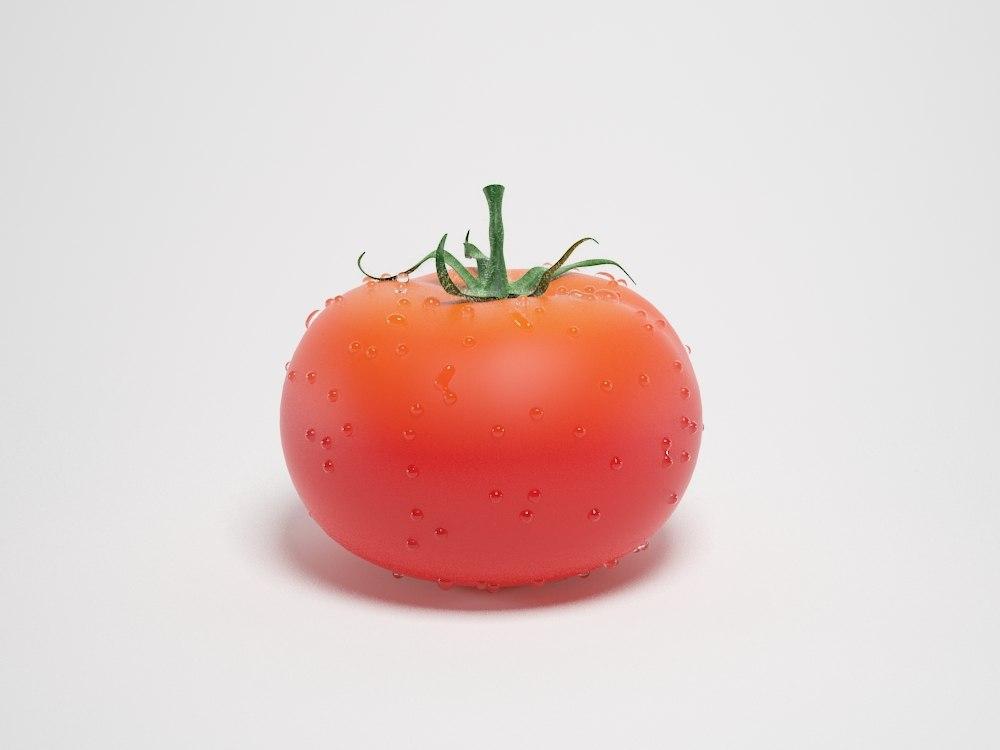 3d photorealistic tomato model