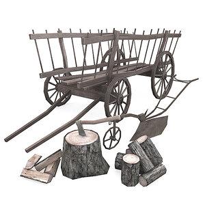vintage farming 3d model