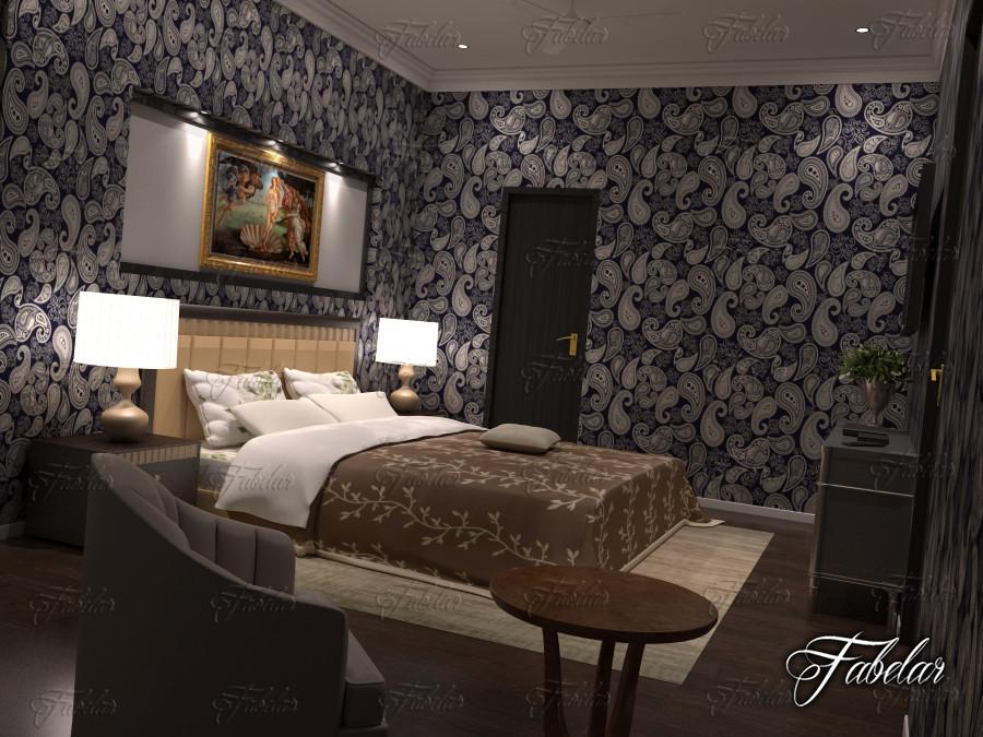bedroom scene 3ds