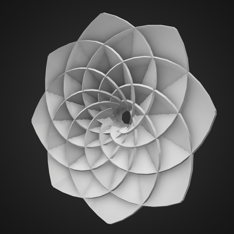 abstract flower shape max