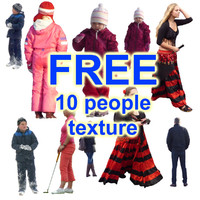 Free 10 people texture