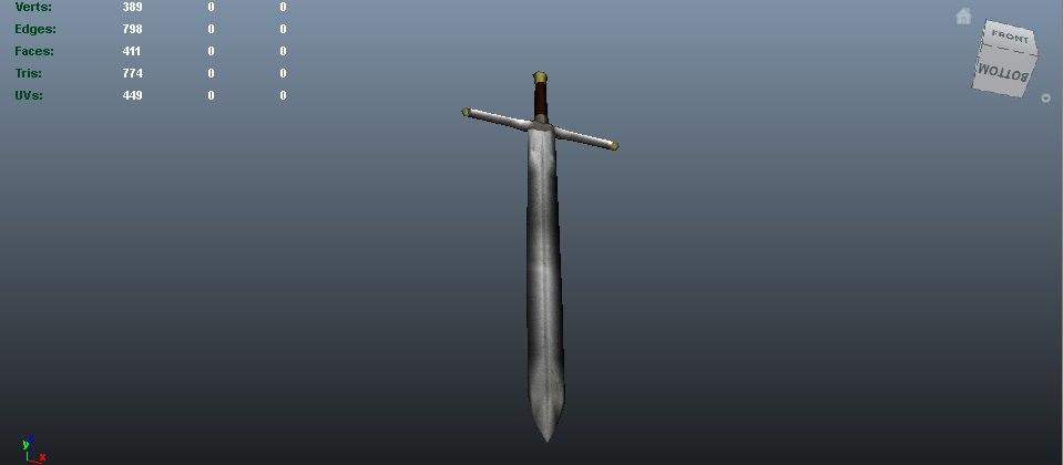 obj medieval sword