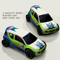 3d model racing car hd