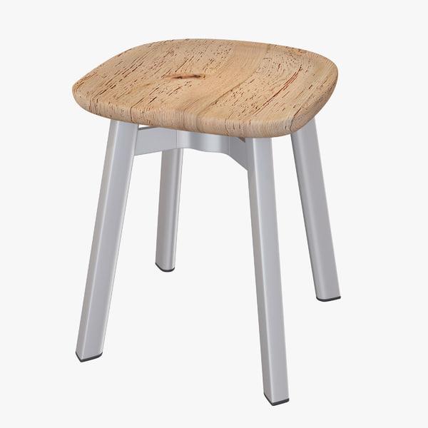 emeco su small stool 3d obj