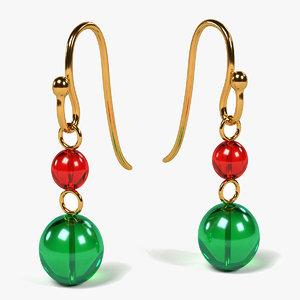 obj earrings