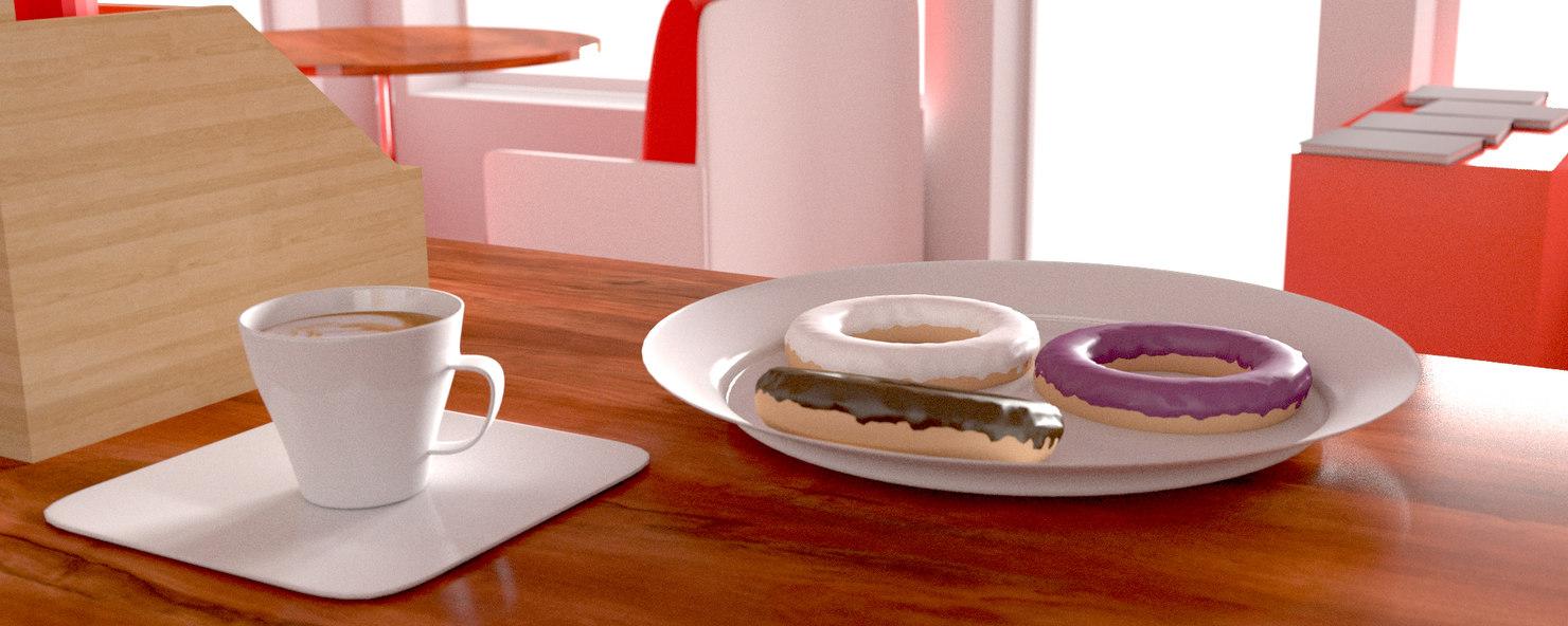 free cafe 3d model