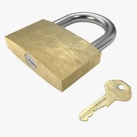 padlock key 3d model