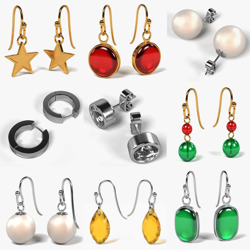 earrings set fbx