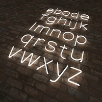 Neon letters lower case