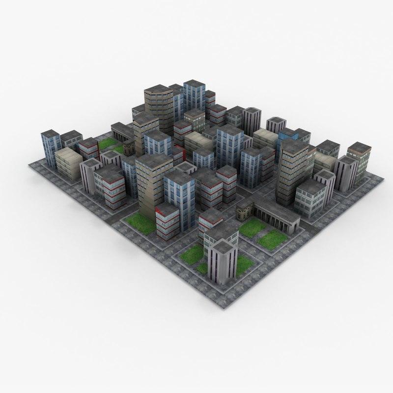 downtown games city 3d 3ds