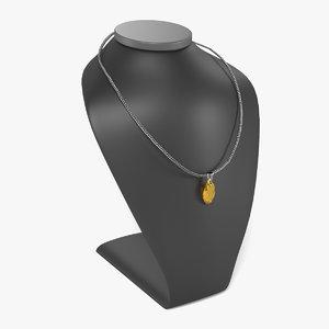 3d model necklace dummy