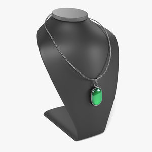 3d model necklace dummy