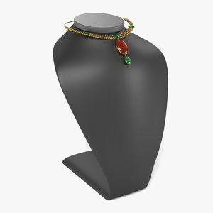 3d necklace dummy model