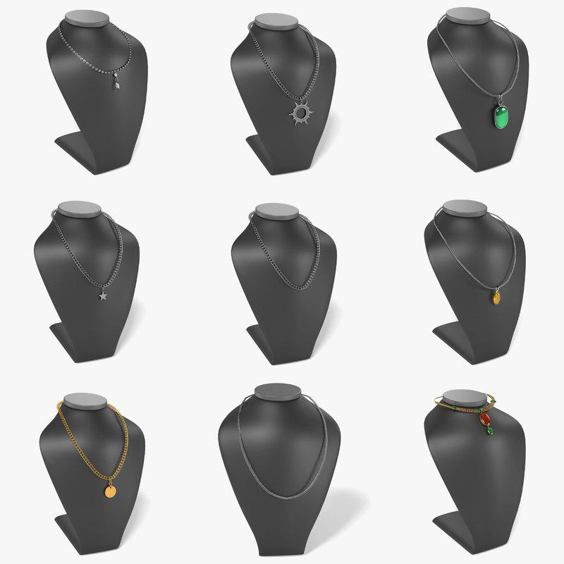 3d 3ds necklaces dummies