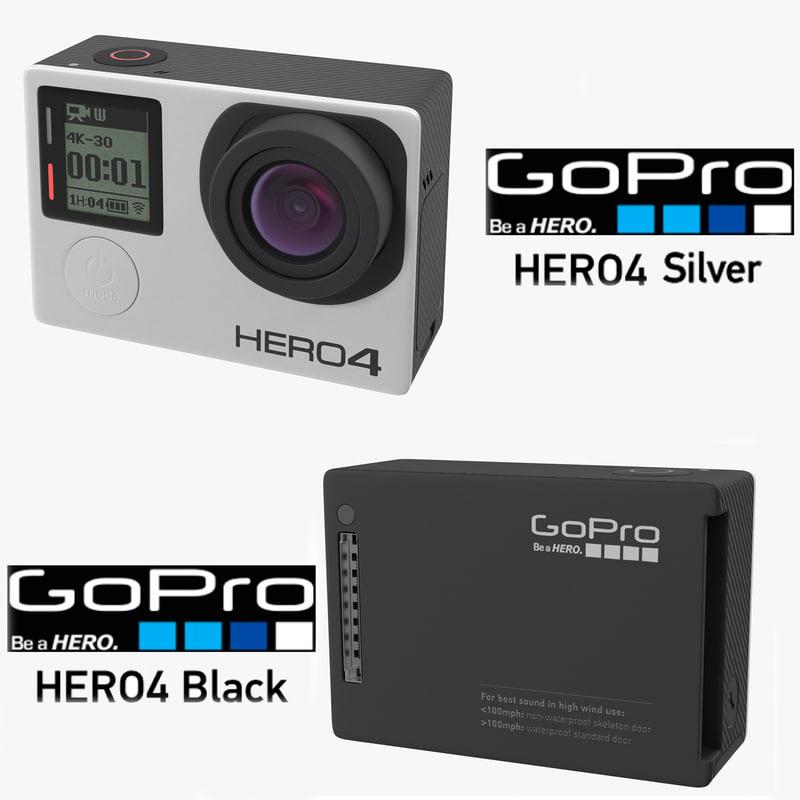 3d hero 4 gopro model