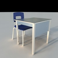 school desk 3d ma