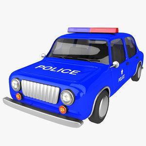 cartoon police car max