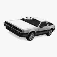 delorean dmc-12 obj