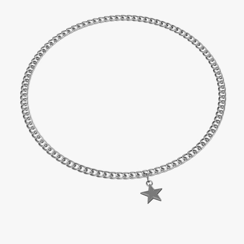 necklace neck 3d 3ds