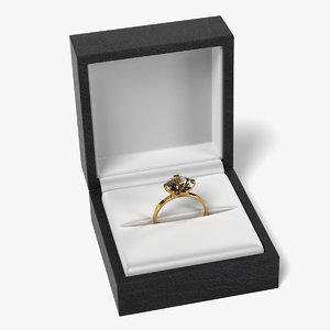3d model ring box