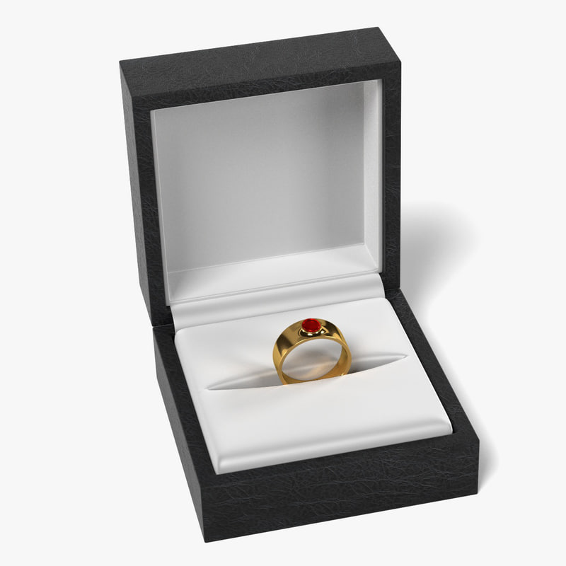 ring box 3d 3ds