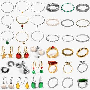 jewellery rings bracelets 3d 3ds