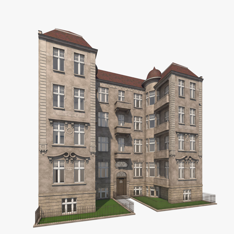 3d model berlin residence theodorstrasse 3