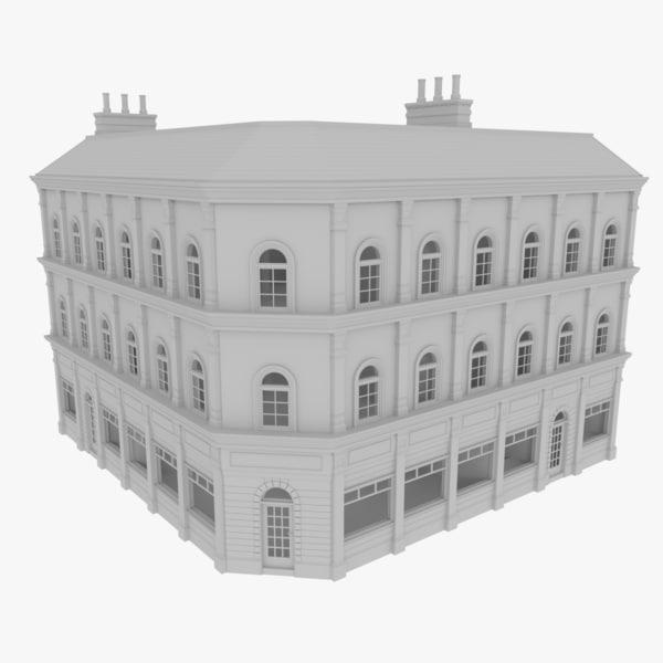 3d model european building interiors