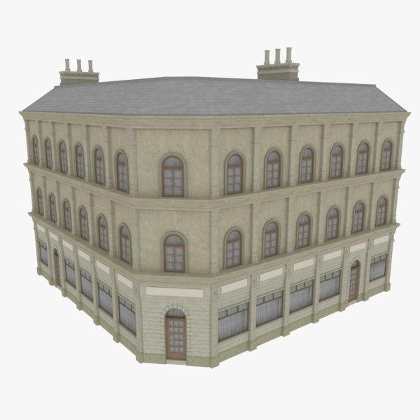 european building obj