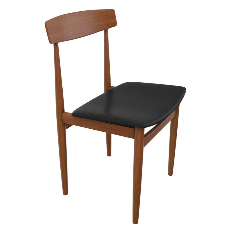 3d danish modern chair