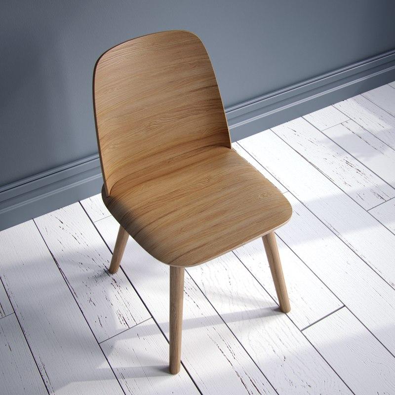 3d muuto nerd chair model