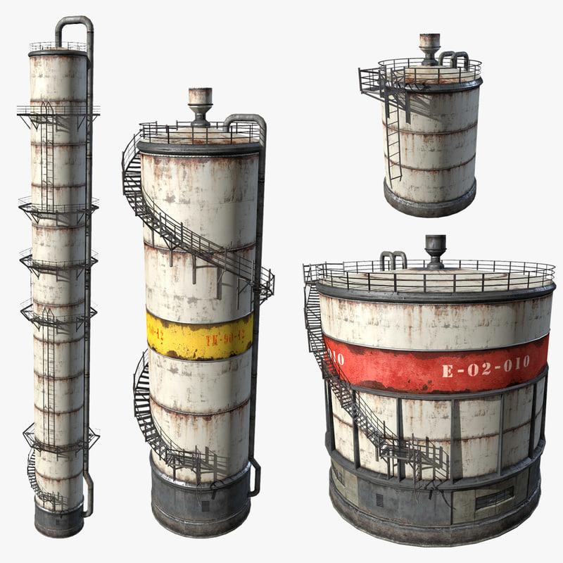 fuel oil tanks 3d model