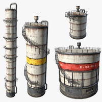 fuel oil tanks 3d model