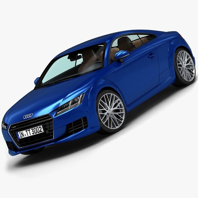 2015 audi tt interior 3d model