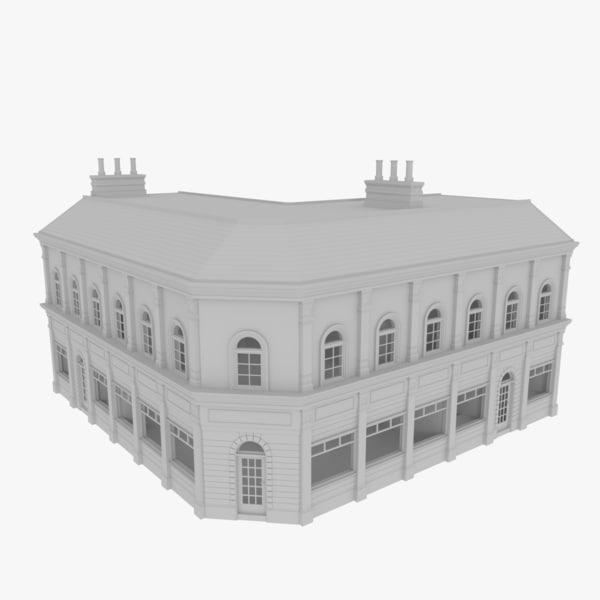 3dsmax european building interiors