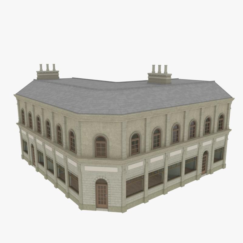 3d model european building interiors apartments