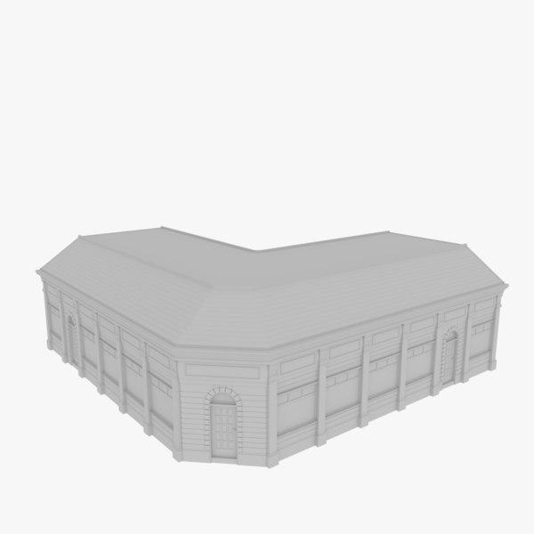 3d model european building