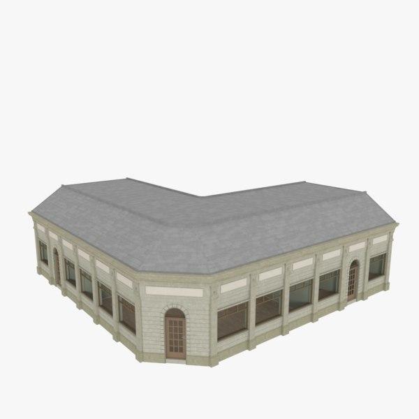 european building interiors 3d obj