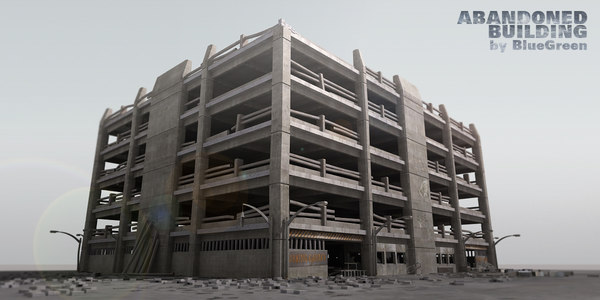 abandoned building 3d max