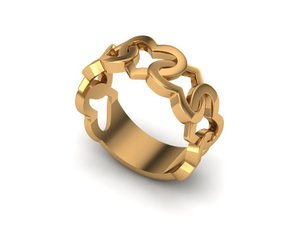 obj heart ring