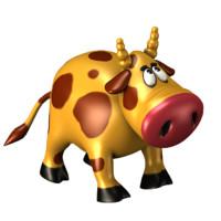 cartoon cow 3d max