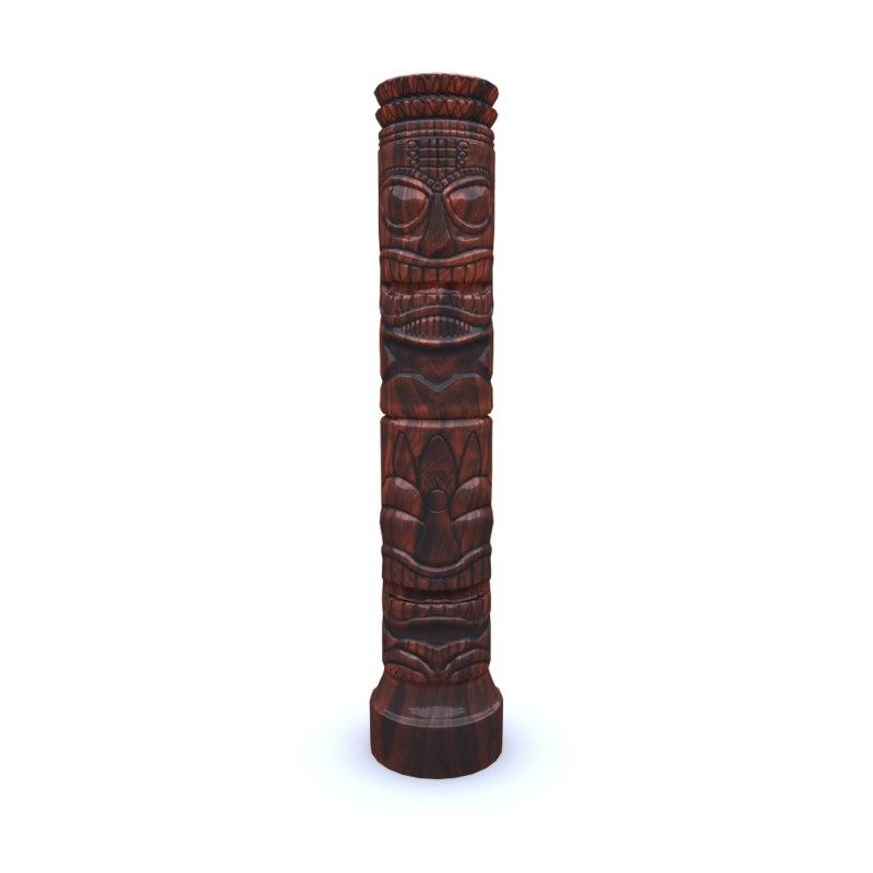maya tiki statues