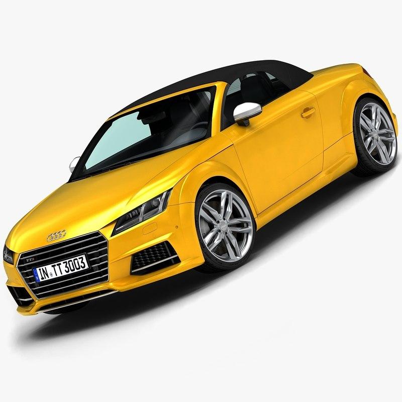 3d 2015 audi tts roadster model