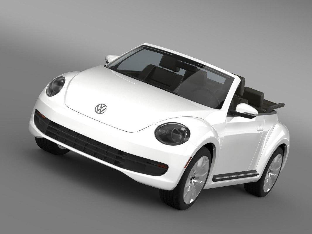 3d beetle tdi cabrio 2014