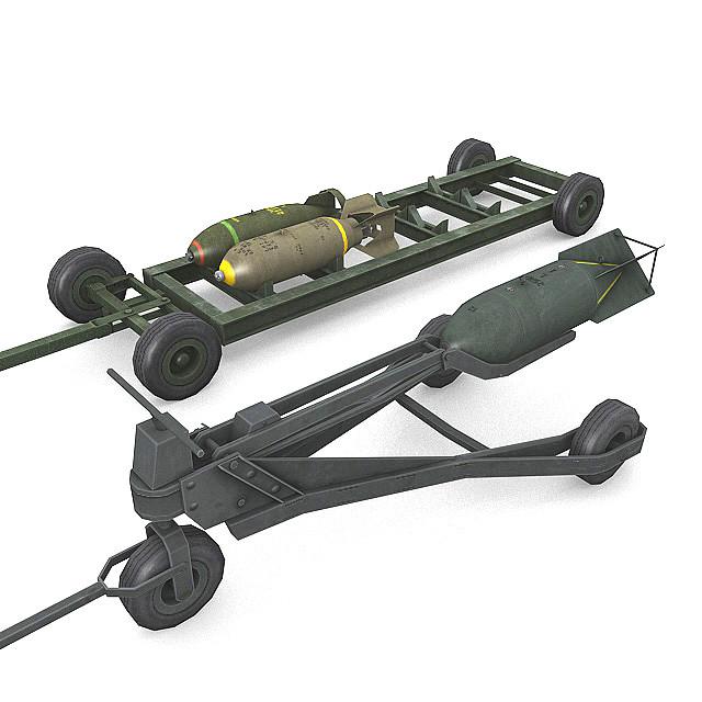 2 bombs 3d max
